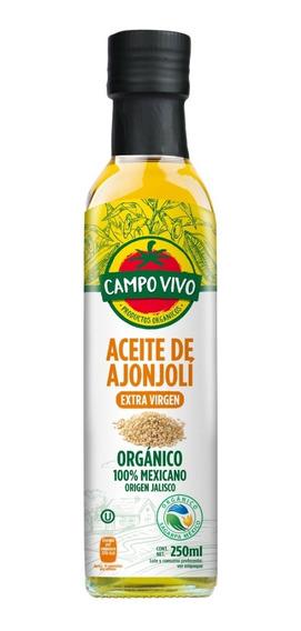 Aceite De Ajonjoli Orgánico Campo Vivo 250 Ml