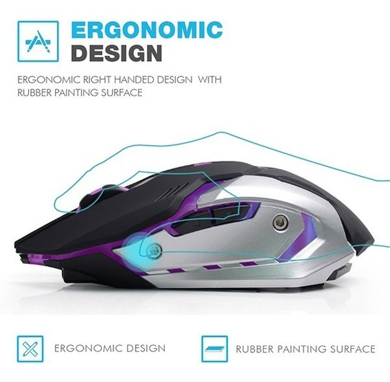 Mouse Gamer Azzor D9 S/ Fio 2.4ghz 3000 Dpi Bateria Líthium