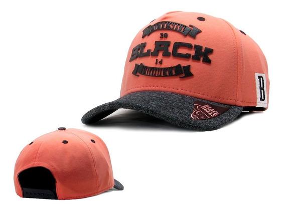 Boné Black Bulls Aba Curva Original Snapback Aberto