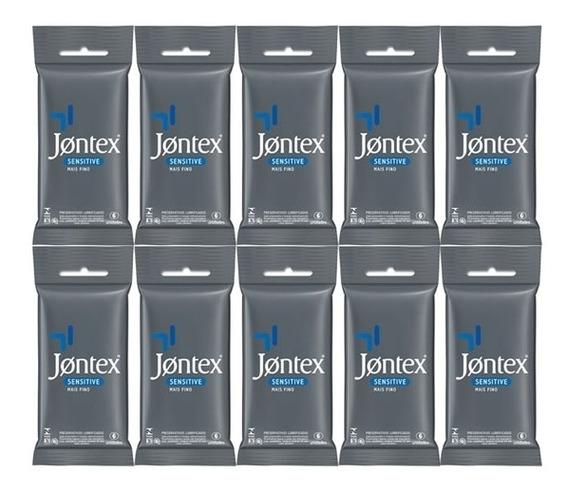 Kit 10x6 Preservativos Jontex Sensitive (60 Camisinhas)