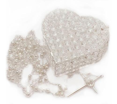 Lazo Matrimonio Baño Plata Con Estuche Cristales Gratis