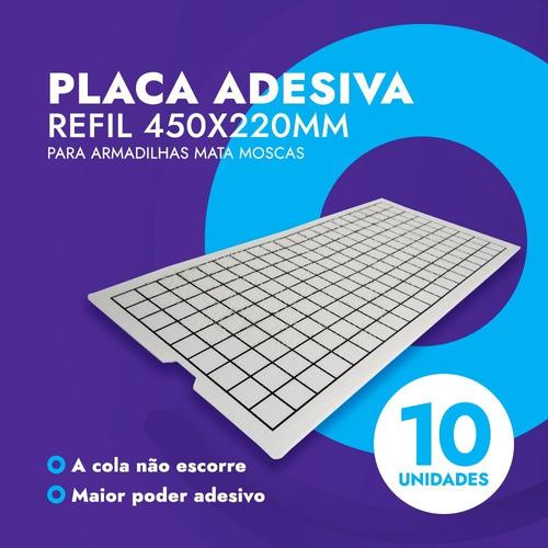 10 Pçs - Refil 450x220 Armadilha Pega Mata Mosca Mosquito