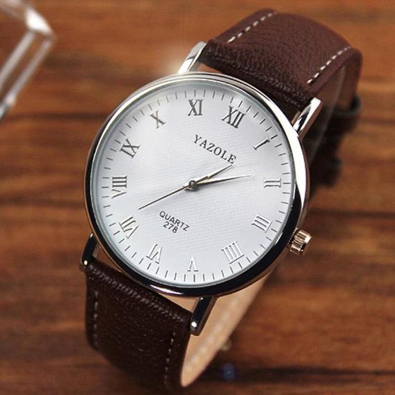 Reloj Casual Acero Cuarzo Marca Yazole Modelo 278 Café