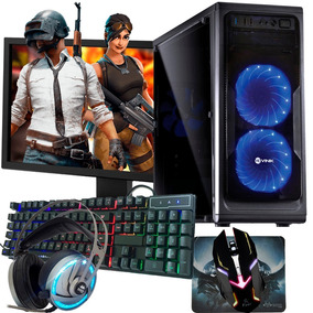 Pc Gamer Completo/ Quad/ 8gb/ 1tb/ Gt 1030/ Dvd-rw/ Tela 19
