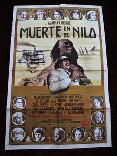 Afiche Poster De La Película Muerte En El Nilo