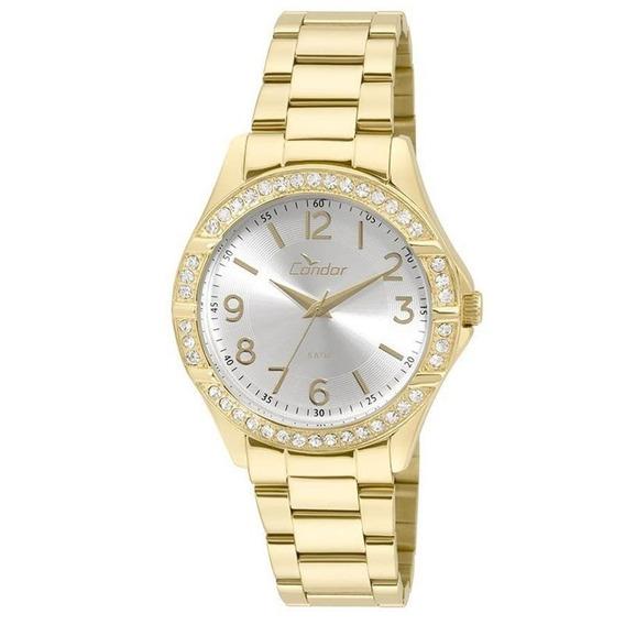 Relógio Condor Feminino Braceletes Dourado Co2035kus/4k