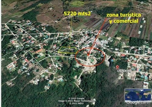 Imagen 1 de 14 de Terreno En Uninajab A Un Lado De La Zona Turística Con Vista