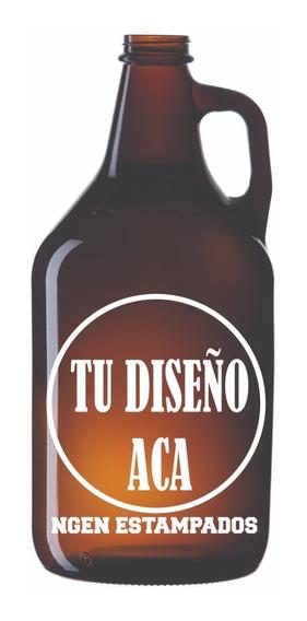 Serigrafia Botellon Growler Botellas Vidrio Epoxi