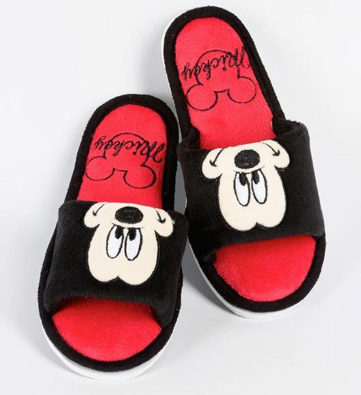 Pantufa Chinelo Mickey Infantil Pelucia Antiderrapante