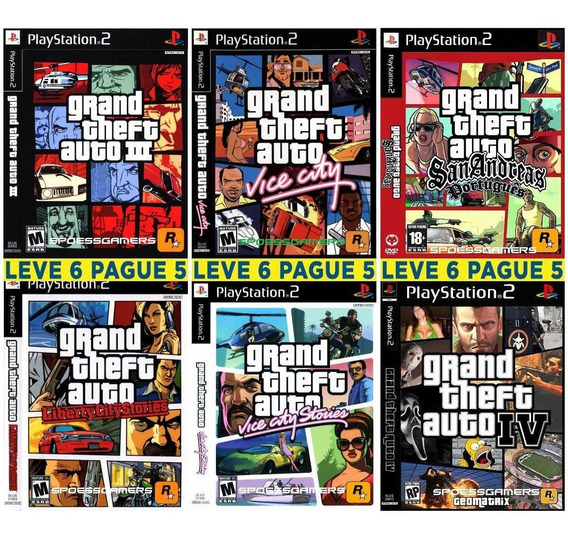 Gta Collection ( Grand Theft Auto ) 6 Jogos Patch Ps2