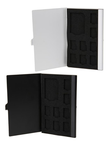 1 Estojo Alumínio Case Porta Cartão De Memória Sd Micro Sd