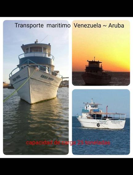 Vendo Barco De Madera Y Fibra