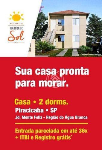 Imagem 1 de 4 de Casa Com 2 Dormitórios À Venda, 55 M² Por R$ 120.000,00 - Água Branca - Piracicaba/sp - Ca0657