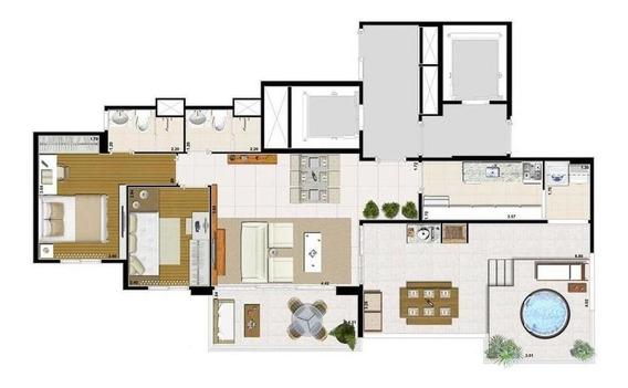 Cobertura Penthouse, 96² Ao Lado Do Morumbi Shopping! - Ap1766