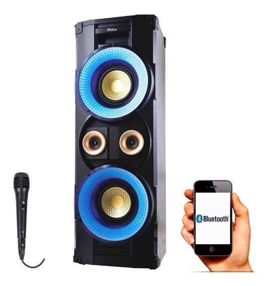 Caixa De Som Pht10000 Som Potente Bluetooth Philco Microfone