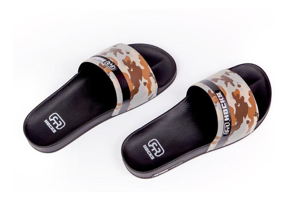 Chinelo Masculino Slide Hocks Camuflado Marrom Original