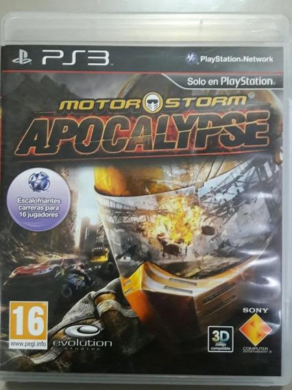 Jogo De Ps3 Motor Storm Apocalypse Em Mídia Física