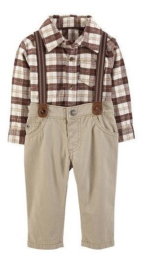 Conjunto Carters Kit 3 Camisa- Body Calça Suspensório Menino