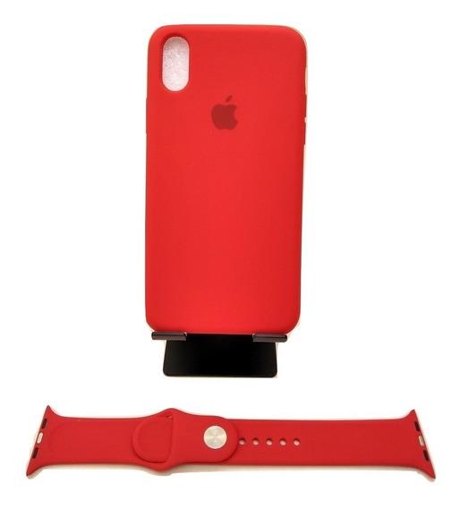 Correa Apple Watch + Funda Silicon iPhone + 2 Micas Vidrio
