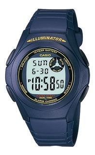Reloj Hombre Casio F-200w-2b Azul Digital / Lhua Store
