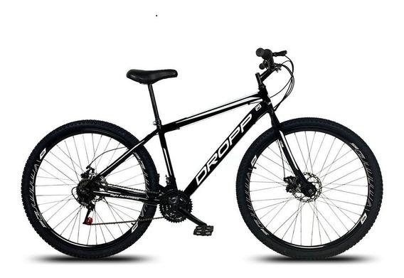 Bicicleta Aro 29 Quadro 17 Freio Disco 21v Aço Preto Branco