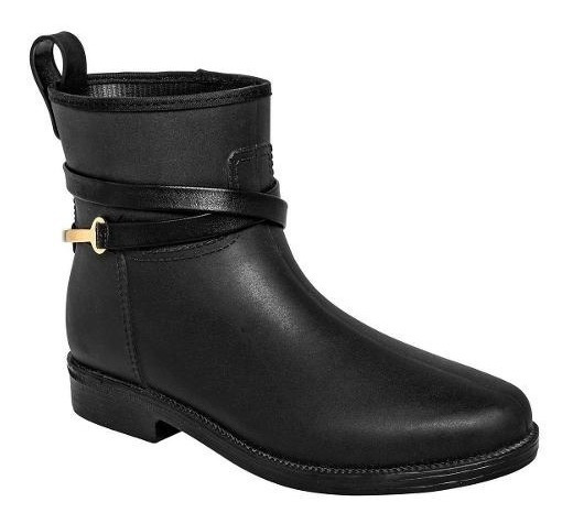 Zapato - Bota Lluvia Mujer Negro