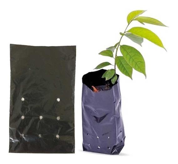 Saco Para Mudas De Plástico Preto 15 X 25 Cm Com 500 Unidad