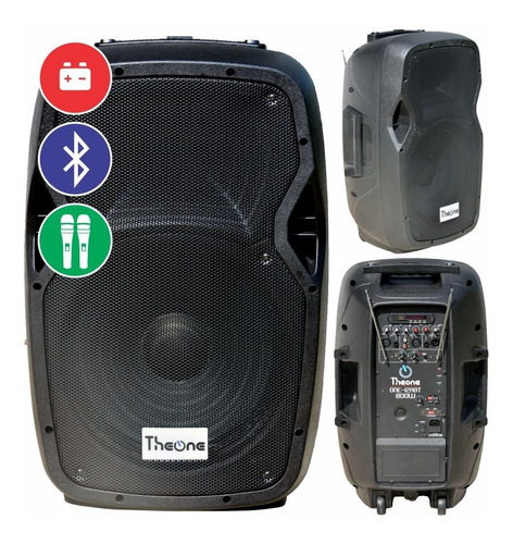 Caja Activa Amplificada 12  220/110/12v Bluetooth