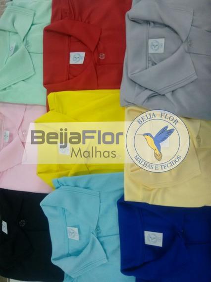 Camiseta Polo 100% Poliéster Color - Lote 20 Peças - P Ao Gg