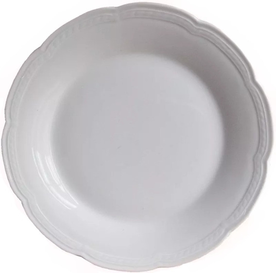 Juego 12 Platos Playos 25 Cm Porcelana Tsuji Linea 1800