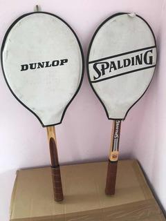 Raquetes De Madeira Dunlop E Spalding Leia O Anúncio $