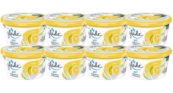 Perfume Carro Aromatizante Glade Gel Citrus 70g - 8 Unidade