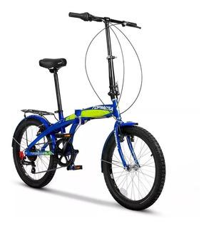 Bicicleta Plegable Top Mega R20 Folding 7 V + Porta Paquete
