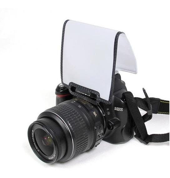 Difusor Pop Up Flash Tela Branca Macia Universal Canon Nikon