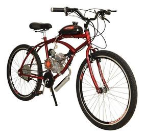 Bicicleta Motorizada Caiçara 2 Tempos Kit Motor 80cc Aro 26