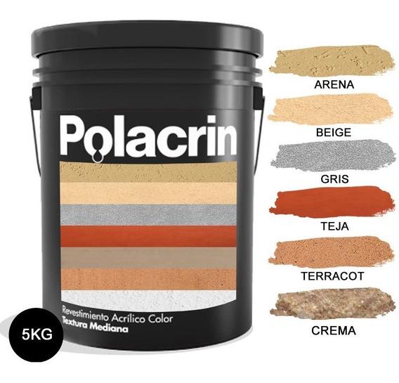 Revestimiento Acrilico Textura Gruesa Int/ext Kg Polacrin 5