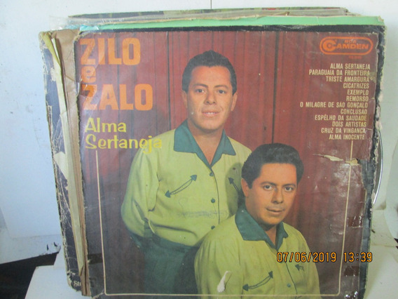 Lp Zilo E Zalo Alma Sertaneja 106.0005 Ano 1967 Meio Baleado