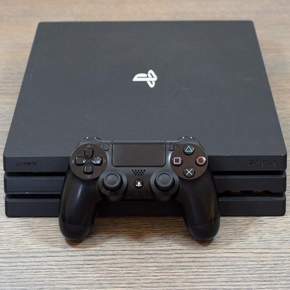 Playstation 4 Pro Usado - Original Com Jogo E Controle Ps4
