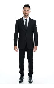 Terno Slim Fit Masculino Casual Preto Pronta Entrega*