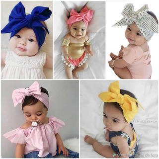 10 Turbantes Anudables Para Bebes Y Niñas Modelos Surtidos