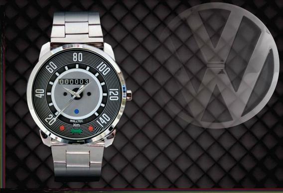 Relógio De Pulso Personalizado Painel Vw Fusca Antigo 140km