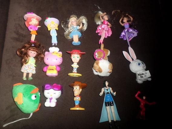 Lote Com 15 Brinquedos Antigos Mc Donalds Moranguinho Hello