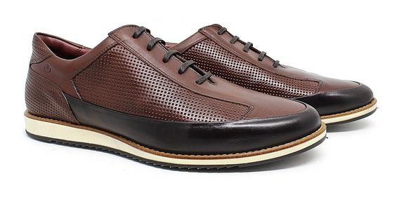 Sapato Oxford Masculino De Cadarço Estilo Inglês 21015