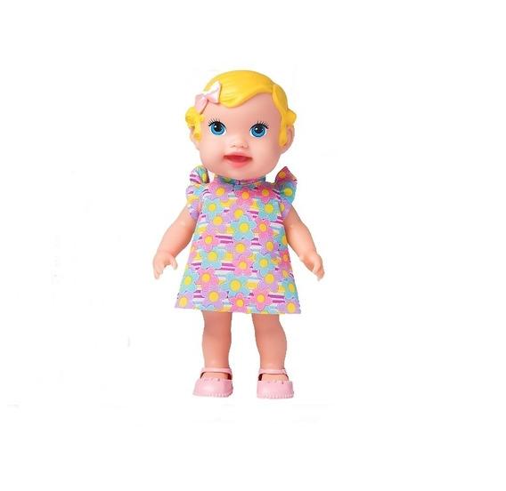 Boneca Babys Collection Alive Papinha Loira - Supertoys
