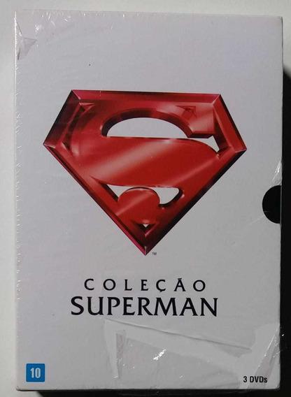Box Dvd Coleção Superman - 3 Dvds - Dublados E Legendados