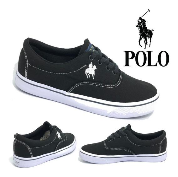 Tênis Polo Feminino Preto 34 Ao 39