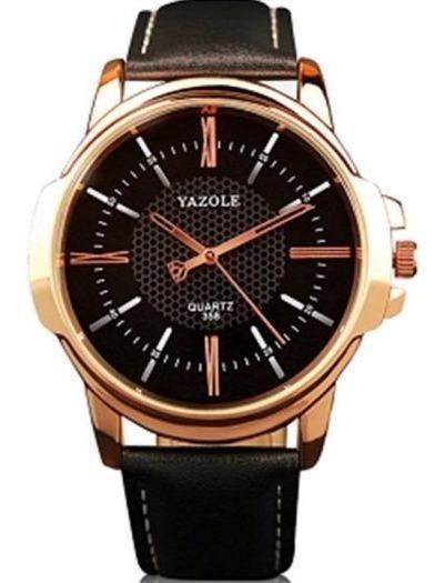 Relógio Masculino De Pulso - Dourado E Preto