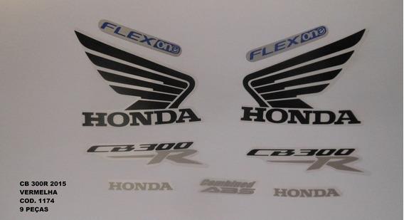 Faixa Adesivo Completo Honda Cb 300r Vermelho 2015 - 15