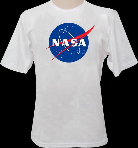 Camiseta Nasa Branca 100%algodão