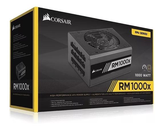 Fonte Corsair 1000w 80 Plus Gold Modular Rm1000x